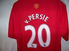 """men's sz S 42"""" terrific Manchester United soccer jersey #20 Robin van Persie"""