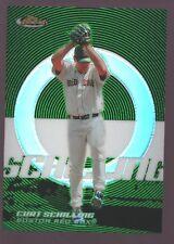CURT SCHILLING BOSTON RED SOX /199 GREEN REFRACTOR MINT SP 2005 TOPPS FINEST GEM