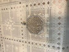 Huge Allah Muslim Shahada Islamic 925 Sterling Silver Man Woman Pendant Charm