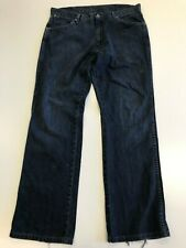 N147 MENS WRANGLER ALASKA FADED BLUE STRAIGHT LEG DENIM JEANS UK W36 L32