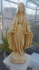 Statua madonna immacolata cemento marmo pietra esterno cm 50