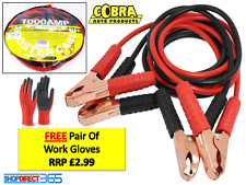HEAVY DUTY 1000AMP CAR VAN JUMP LEADS 4 METRES BOOSTER CABLES START NEW & GLOVES