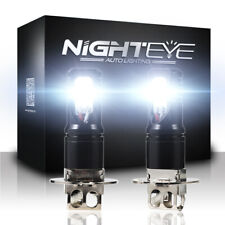 NIGHTEYE Pair H3 Car LED Fog Light Bulbs 6500K White 160W 1600LM/Set