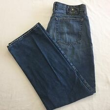 Sz 36 Lucky Brand Dungarees Mens Jeans Inseam 31 Blue Denim Classic Fit  72R8010