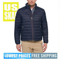 Tommy Hilfiger Men NWT Navy Blue Puffer Down Packable Jacket LARGE MSRP $169