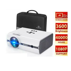 Portable Projector 480P WIFI Synchronize Upgraded Mini 1080P 200in 60W LED Home