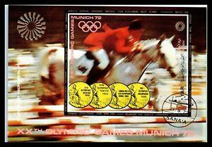 1972 YEMEN Souvenir Sheets - Airmail - Olympic Games - Munich 1972, Germany F1