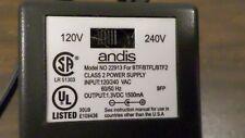 Andis Power Supply Model 22913 120/240Vac 60/50Hz 1.3 Vdc 1500mA