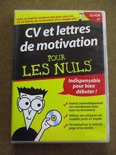 CV et lettres de motivation pour les nuls Que le CD /ZA34