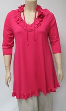 DUTCH DESIGNER YOEK,SMALL VISCOSE AND SPANDEX TUNIC,THEIR COLOR LIPSTICK.