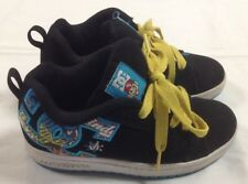 Boys Kids DC Skate Shoes casual Sneakers Black Youth Court Graffik WG 2.5 fits 1