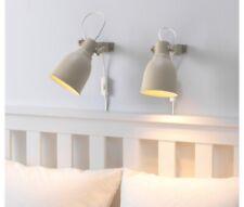 IKEA Set of two HEKTAR Clamp Spotlight Clip-on Led Lamp Steel, Beige  904.353.81