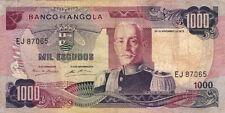 BILLET BANQUE ANGOLA 1000 escudos 1972 état voir scan 065