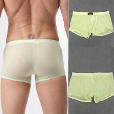 nylon élasthanne SEXY HOMMES Sous-vêtement Caleçon Boxer Sport S-L noir/blanc /