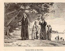 EGYPTE CAIRE FEMME FELLAH EGYPTIENNE IMAGE 1880 CAIRO EGYPTIAN WOMAN  OLD PRINT