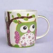 Eulenbecher - grün - Becher / Tasse mit Eule - Eulentasse - Kaffeebecher - NEU