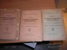 1915.3 livres .communiqués officiels.guerre 14-18