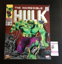 Stan Lee SIGNED The Incredible Hulk 105 comic canvas wall art JSA Certified