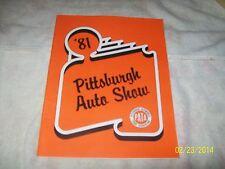 "1981 PITTSBURGH,PA AUTO SHOW PROGRAM,PATA 8 1/2 X 11"""