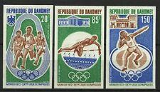 DAHOMEY SPORT JEUX OLYMPIQUES MUNICH GAMES NON DENTELES IMPERFS ESSAY ** 1972