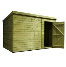 10x4 Garden Shed Shiplap Pent Roof Tanalised Pressure Treated Door Right