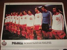 # POSTER POLONIA POLAND 1978 PRE-WORLD CUP COPPA DEL MONDO CALCIO 22X30 FOTO