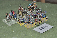 25mm medieval / generic - infantry 18 figs metal painted - inf (6819)