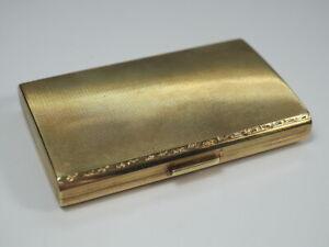 edles 14K 585 GOLD ETUI ZIGARETTENETUI TABATIERE 78,7 g Visitenkartenetui 30er J