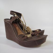 4959be717ee Kurt Geiger Brown Leather Wedge Sandals Shoes High Heels Size UK 7 £109.00