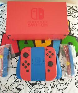 👀 Nintendo Switch Mario Edition  dock  joycons fantastic 👀