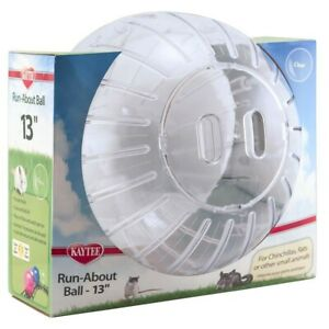Kaytee Run-About Ball Clear Mega 13 inch Diameter Toy for Chinchillas, Rats