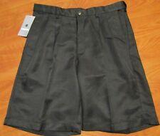 Haggar Shorts Mens 34 Black Casual Pleated 4529487 Cool 18
