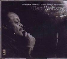 BEN WEBSTER! THE COMPLETE 1943-1951 SMALL GROUP RECORDINGS 3-CD BOX SET! RARE!