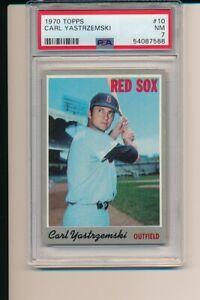 CARL YASTRZEMSKI BOSTON RED SOX 1970 TOPPS #10 PSA 7 NEWLY GRADED BASEBALL CARD