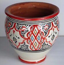 Moroccan Spanish Ceramic Flower Pot Garden Drain hole Terracotta Planter Plant