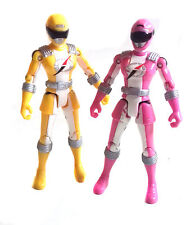 "POWER RANGERS Female YELLOW  & PINK  5"" Ranger toy figures  set"