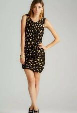 French Connection Black Gold Galaxy Jersey  Sequined Dress Size 0