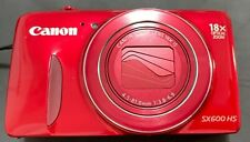Canon PowerShot Camera SX600 HS WiFi 18x Optical ZOOM, Red with battery FULL HD