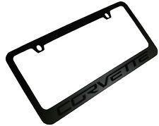 2005-2013 C6 Corvette Stealth Blackout License Plate Frame - Includes Screws+Cap