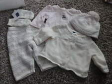 JANIE AND JACK 0-3 WINTER FAWN SWEATER ONE PIECE PANT HAT MITTEN LOT