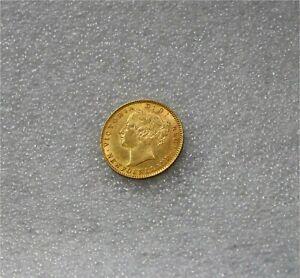 1888  Newfoundland Victoria Gold $2 Dollars Coin  Luster  AU+