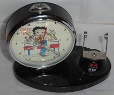 Black Betty Boop Collectible Vintage Alarm Clock Works missing Calendar Piece