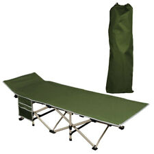 Foldable Camping Bed Outdoor Portable Military Cot w/ Carry Bag Hiking Travel