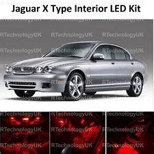 RED PREMIUM JAGUAR X TYPE 2001-2009 ICE FULL LED INTERIOR UPGRADE KIT