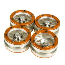 "4PCS Metal Beadlock 1.9"" Wheel Rims Orange for Axial SCX10 D90 90046 1/10 RC #38"