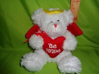 Valentine ANGEL BEAR RED WINGS GOLD HALO HEART PLUSH STUFFED ANIMAL TOY DOLL