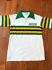 Vintage 1970s-80s Oregon Ducks Game Used Basketball Warmup Shirt Worn by Gaskill