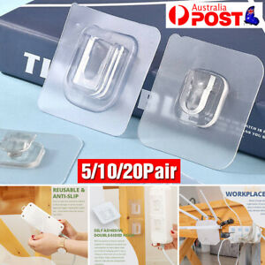 5/10/20 Pairs Double-sided Adhesive Wall Hooks For Home Life Hangging Accessory