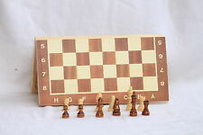 """ALIG FOLDING WOOD CHESS BOARD, BOX SET15*15""""INCH 3 IN 1 GAME 32 WOODEN PIECES"""