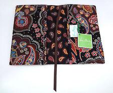 Vera Bradley Book Cover KENSINGTON Small Paperback Brown Fabric Sleeve